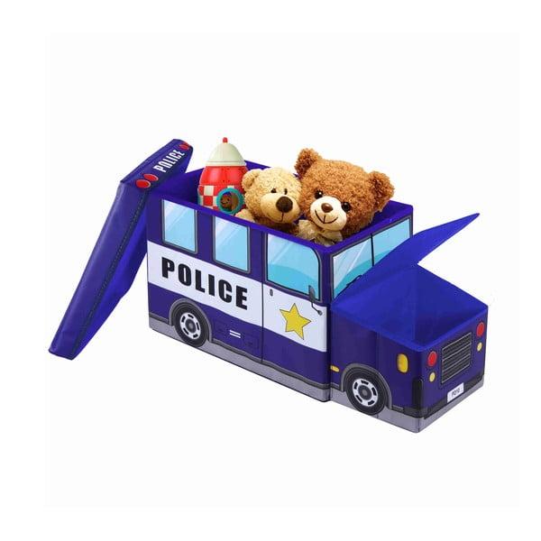 Dziecięcy puf ze schowkiem Jocca Police Car