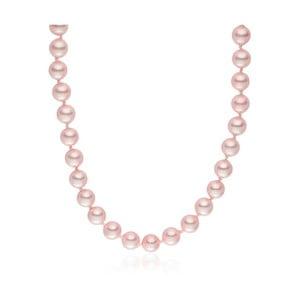 Różowy   naszyjnik z pereł Pearls of London Mystic, 45 cm