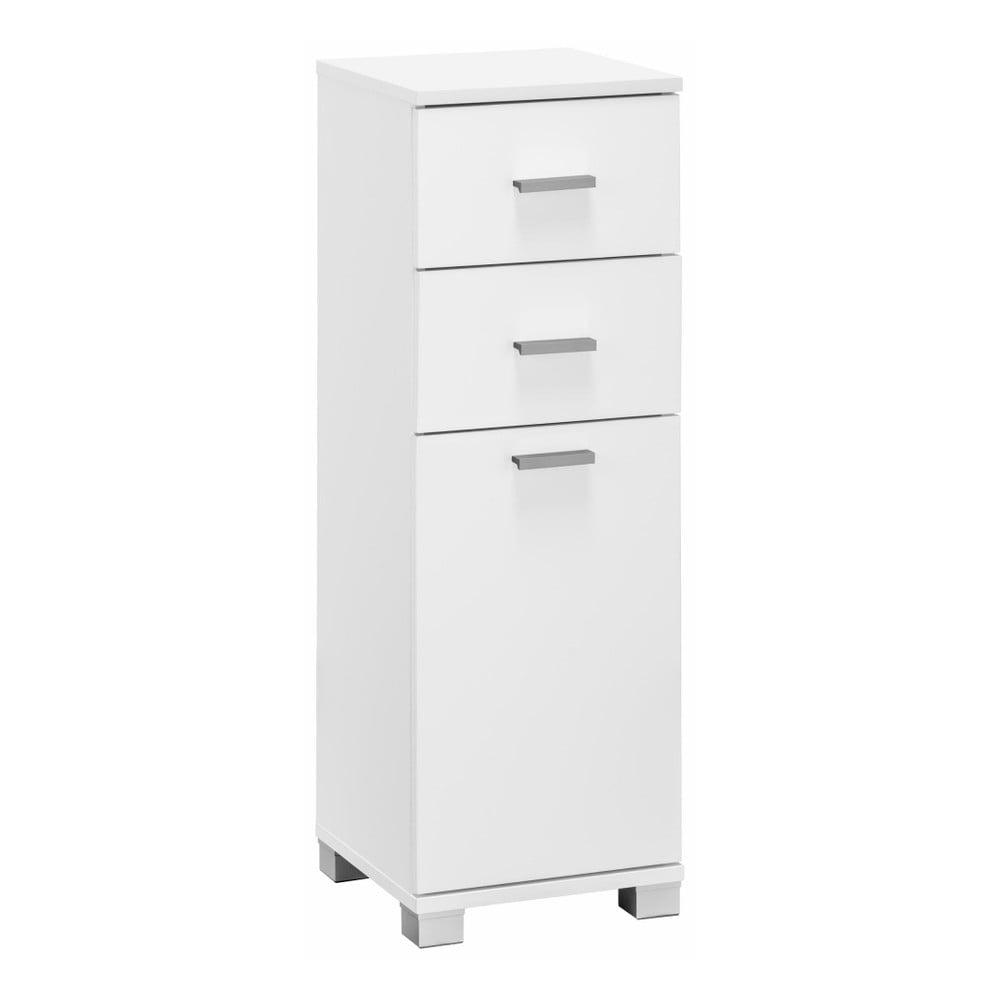 Biała szafka łazienkowa z drzwiczkami i 2 szufladami Støraa Rhonda
