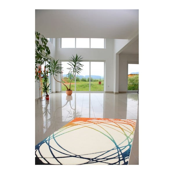 Dywan Lifestyle 111 white/orange, 120x170 cm