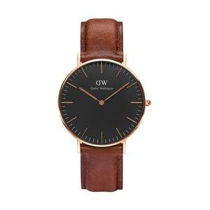 Brązowy zegarek unisex DanielWellingtonSt MawesGold