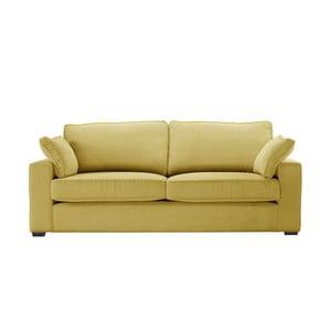 Żółta sofa 3-osobowa Jalouse Maison Serena