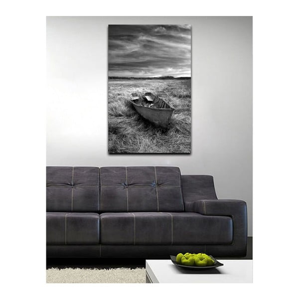 Obraz Black&White Ship, 45x70 cm