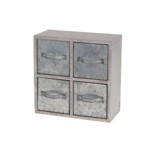 Drewniana szafka z metalowymi szufladami Oscar