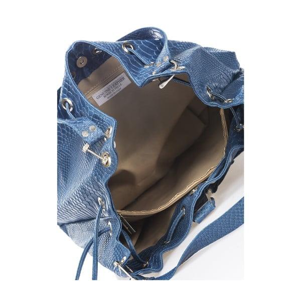 Skórzana torebka Divisa, niebieska