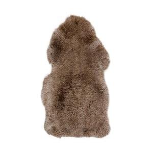 Brązowa skóra z krótkim włosiem Dotonna, 100x55cm