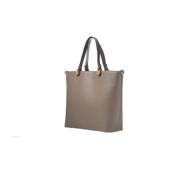 Skórzana torebka Miss Taupe