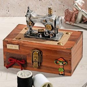 Drewniane pudełko na nici Woodie