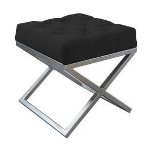 Czarna ławka JohnsonStyle Awilla, 45x45 cm