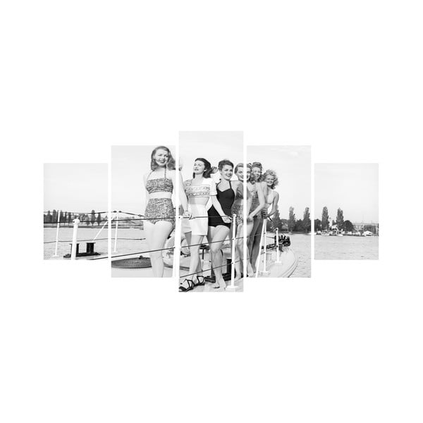 Wieloczęściowy obraz Black&White no. 11, 100x50 cm