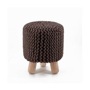 Brązowy wysoki stołek pleciony Moycor Crochet