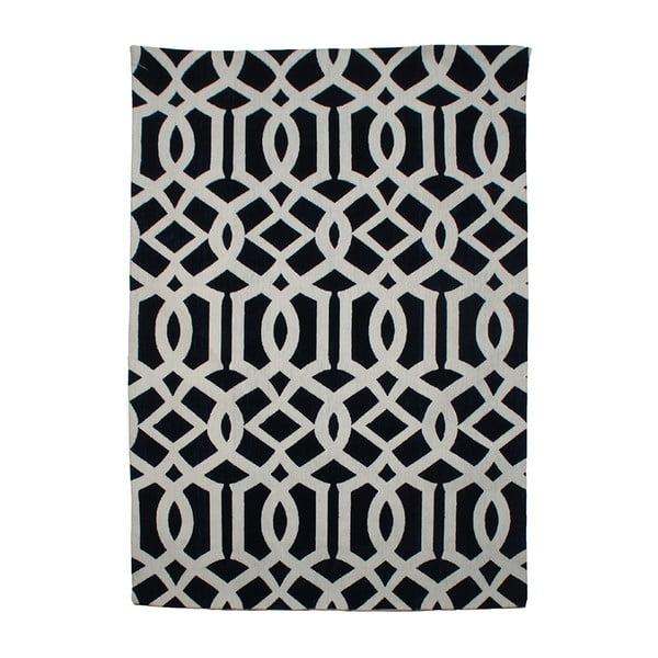 Niebieskobiały dywan Cotton, 120x180 cm