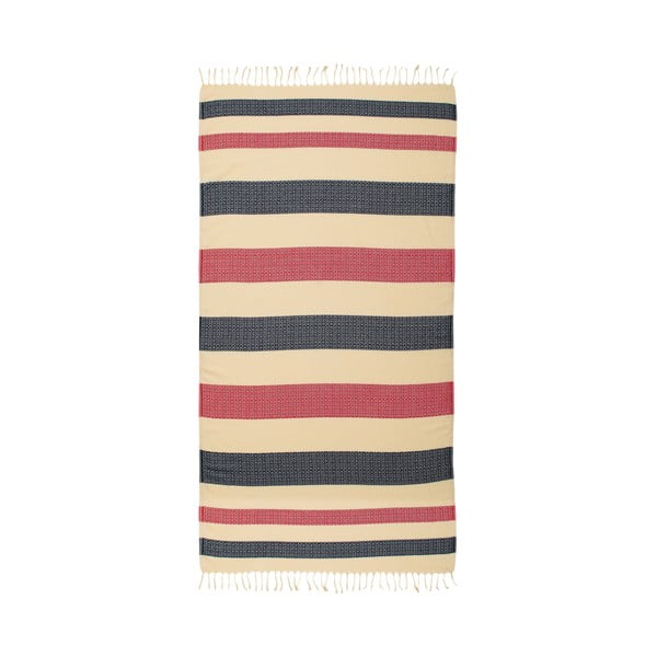 Ręcznik hammam Moss Navy, 95x175 cm