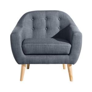 Niebieski fotel Max Winzer Kelly
