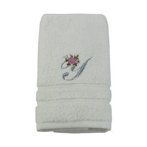Ręcznik z inicjałem i różyczką Y, 50x90 cm