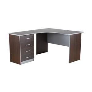 Biurko w kolorze ciemnego dębu Office