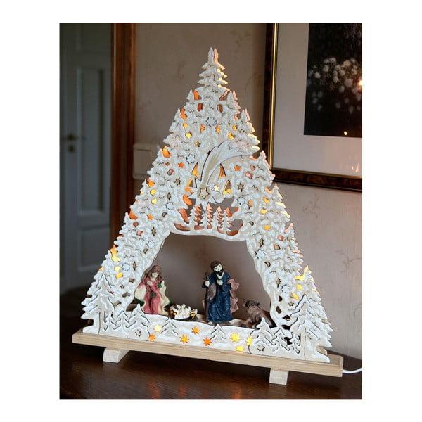 Świecąca dekoracja Nativity with Glitter