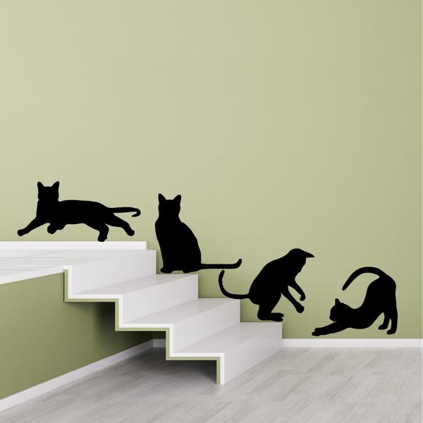 Naklejka na ścianę Cats Silhouettes