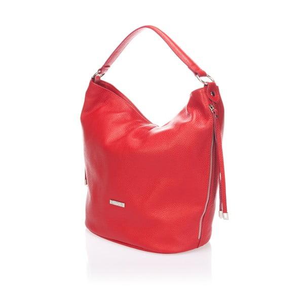 Skórzana torebka Krole Karla, czerwona