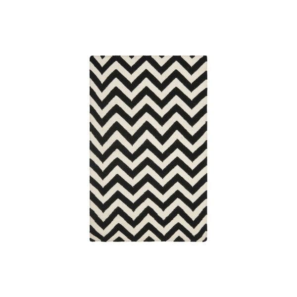 Wełniany dywan Nelli 121x182 cm, czarny