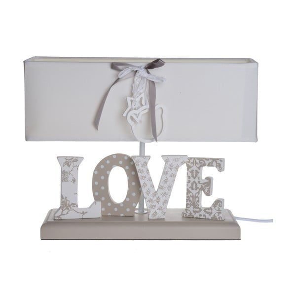 Lampa stołowa z napisem Love