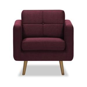 Burgundowy fotel Vivonita Magnus