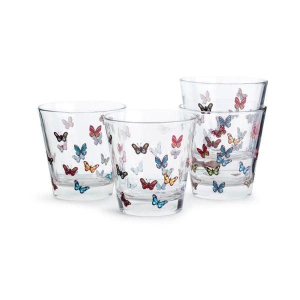 Zestaw 4 szklanek Sagaform Butterflies, 200 ml