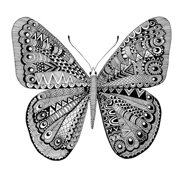 Plakat Karin Åkesson Design Butterfly Black, 30x40 cm