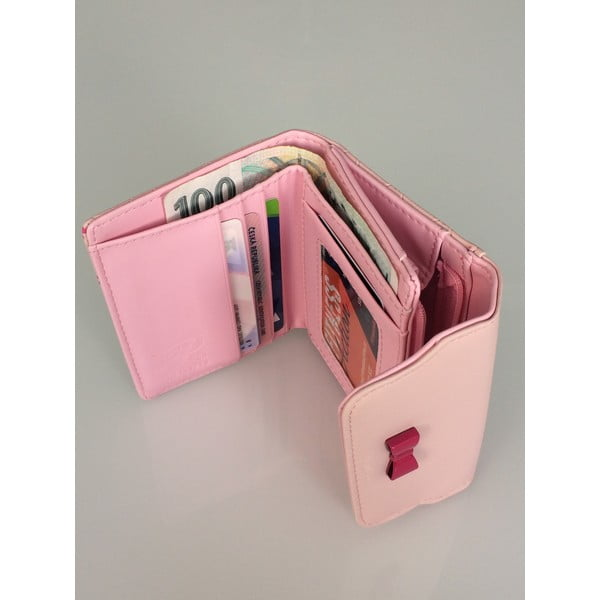 Mały portfel Charm, różowy