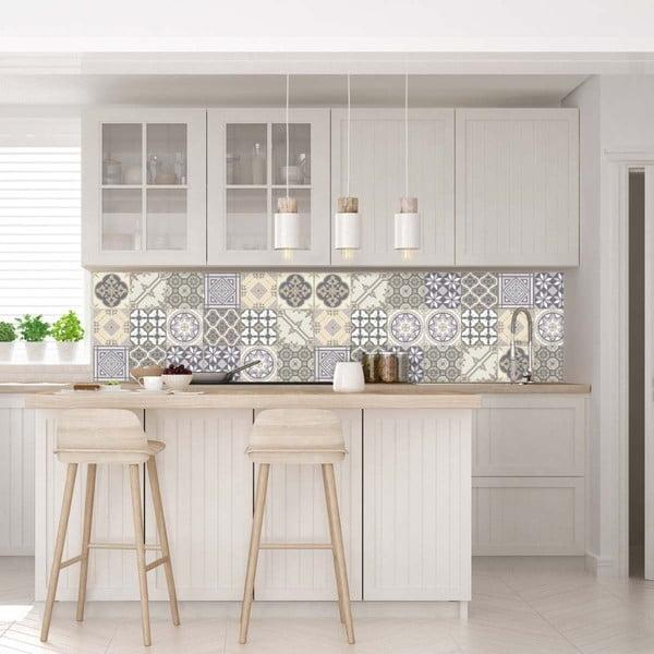 Zestaw 9 samoprzylepnych naklejek Ambiance Decals Country Tiles, 10x10 cm