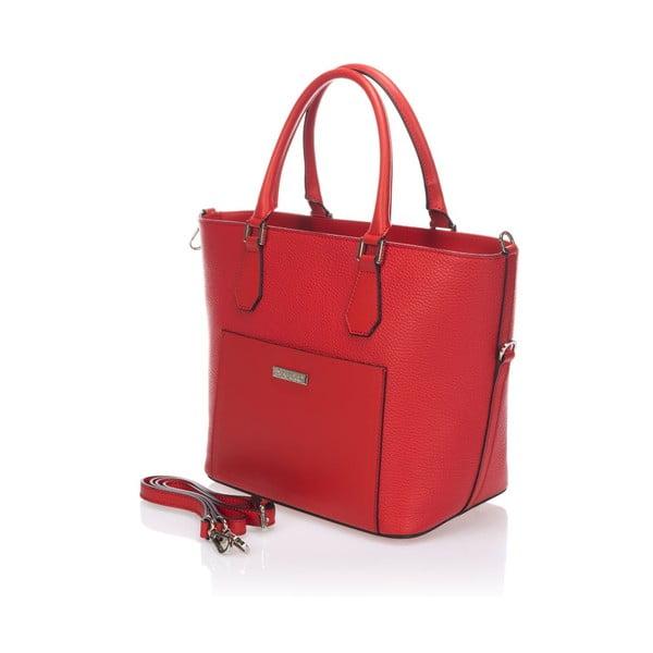 Skórzana torebka Krole Kayleen, czerwona