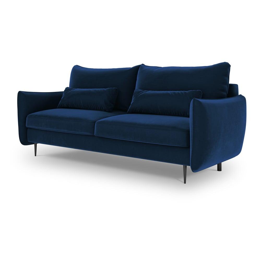Ciemnoniebieska sofa rozkładana ze schowkiem Cosmopolitan Design Vermont