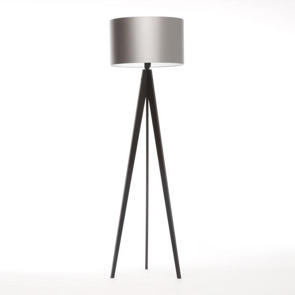 Lampa stojąca Artista Black/Silver, 125x42 cm