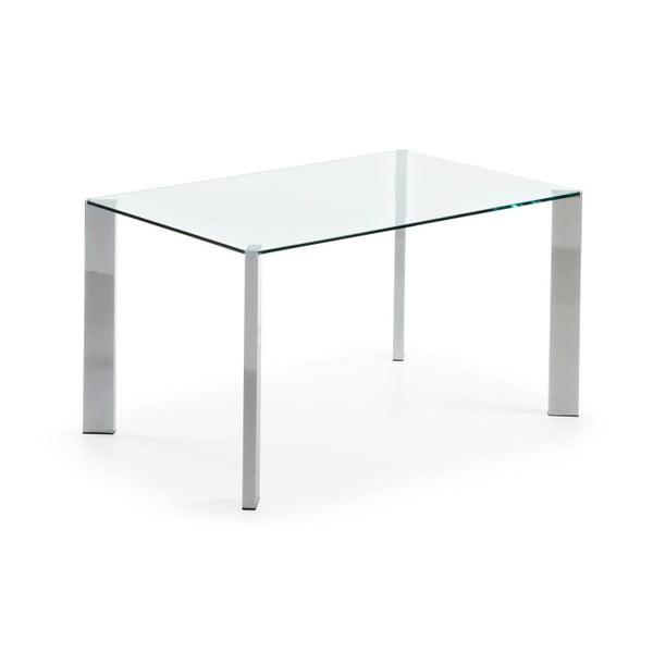Stół do jadalni Corner, 140x90cm, chromowane nogi