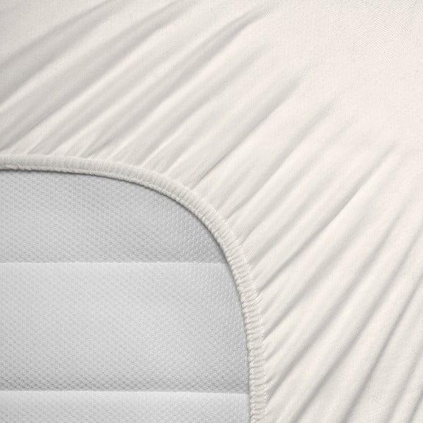 Kremowe prześcieradło elastyczne Homecare, 80-100x200 cm