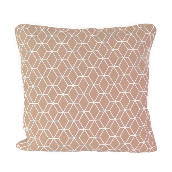 Poduszka Hexagon Dusty Pink, 45x45 cm