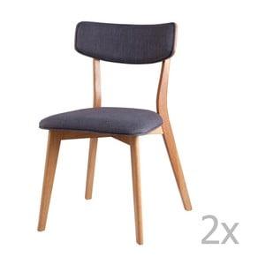 Zestaw 2 ciemnoszarych krzeseł sømcasa Anais