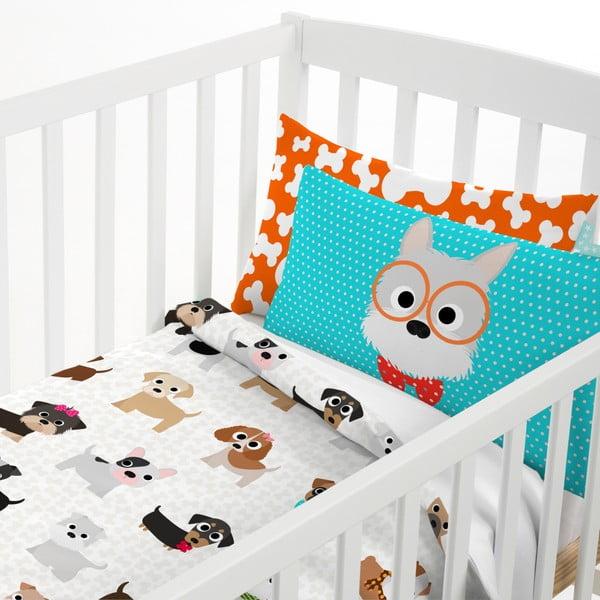Bawełniana pościel dziecięca z poszewką na poduszkę Mr. Fox Dogs, 115x145 cm