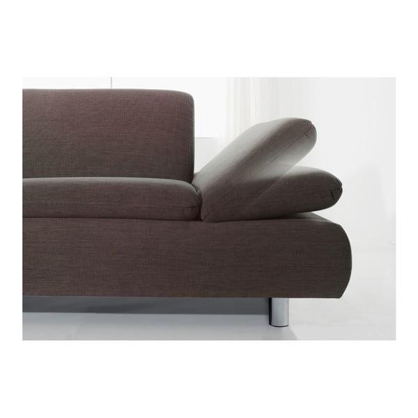 Brązowa sofa narożna Max Winzer Prag, lewostronna