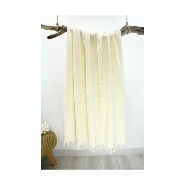 Ręcznik hammam Beach Style Cream, 90x180 cm