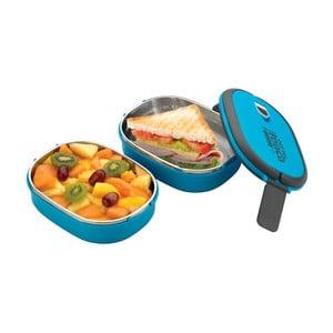 Niebieski podwójny pojemnik na lunch Pioneer lunchbox
