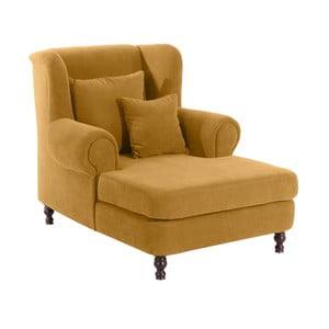 Żółty fotel Max Winzer Mareille