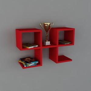 Półka Vita Book Red, 22x65,4x40 cm