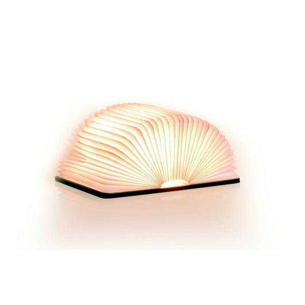 Lampa stołowa LED w kształcie księgi z drewna klonowego Gingko Smart Book