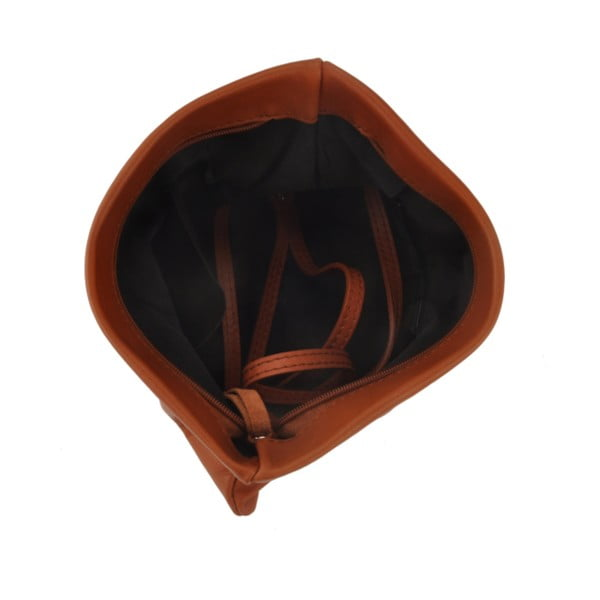 Skórzana torebka Castor, brązowa