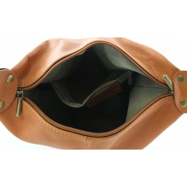 Skórzana torebka Crisana Cognac