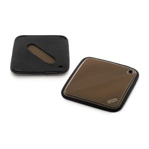Silikonowa rękawica kuchenna, kwadratowa, brązowa