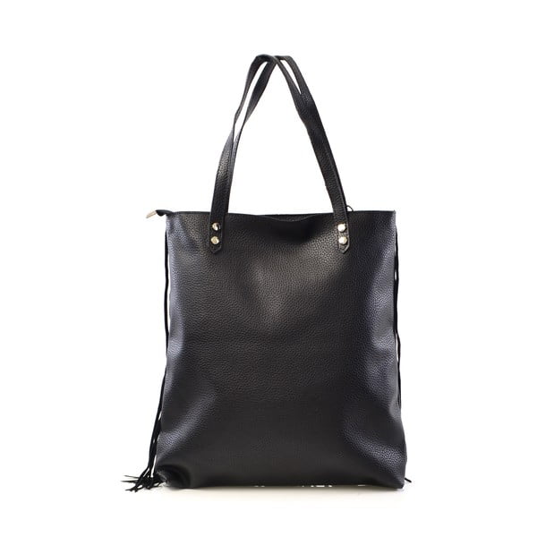 Skórzana torebka Michelle, czarna