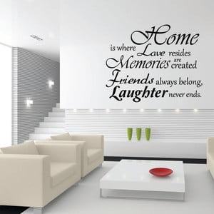 Naklejka Ambiance Home, Love And Laughter