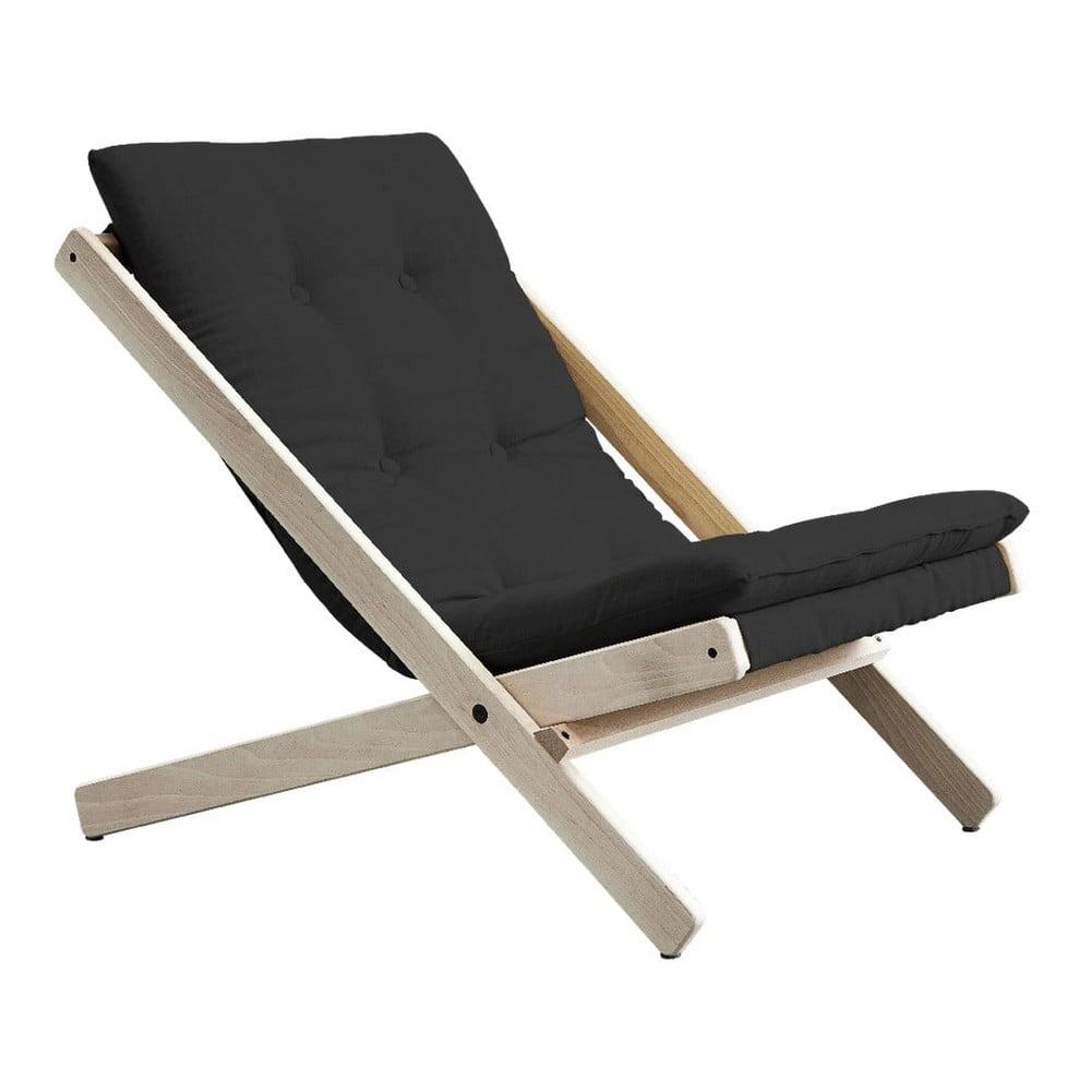 Fotel rozkładany Karup Design Boogie Dark Raw/Grey